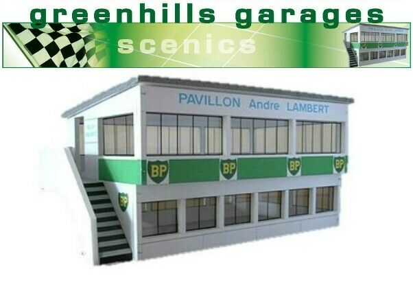 Greenhills Scalextric Slot Car Building Reims Press Box Kit 1:43 Scale - Bran...