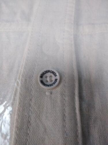 NEW Boulder Creek Mens Linen Pilot Button Shirt 79-5418-3 stone white 6XL Tall