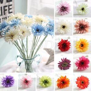 1-Head-Fake-Sunflower-Artificial-Silk-Flower-Bouquet-Home-Garden-Floral-Decor