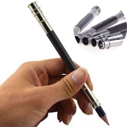 2Pc Extender Adjustable Dual Head Pencil//Pastel Holder School//Office//Art Write