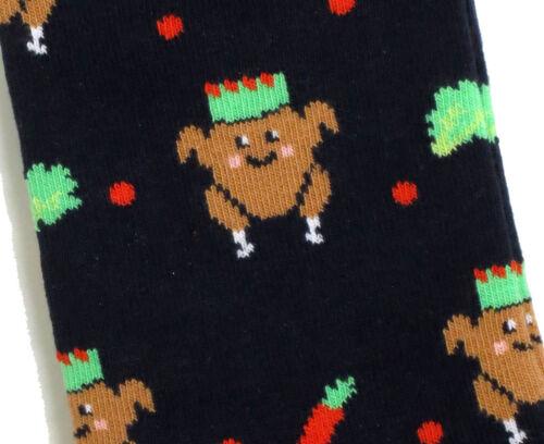 LADIES CHRISTMAS DINNER THANKSGIVING BLACK SOCKS UK 4-8 EUR 37-42 USA 6-10