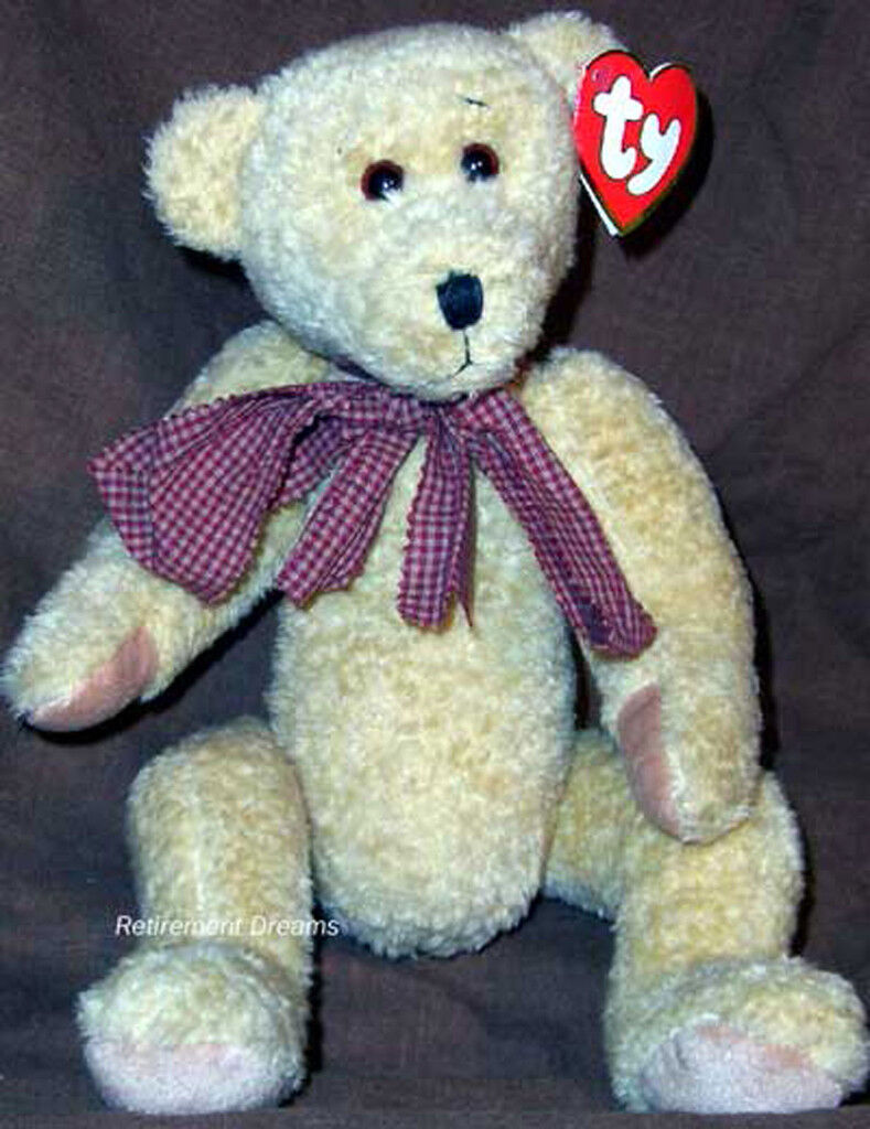ELEANOR Jointed Bear NEW golden Brown TY CLASSIC 19  1996 RETIRED Beanie Baby
