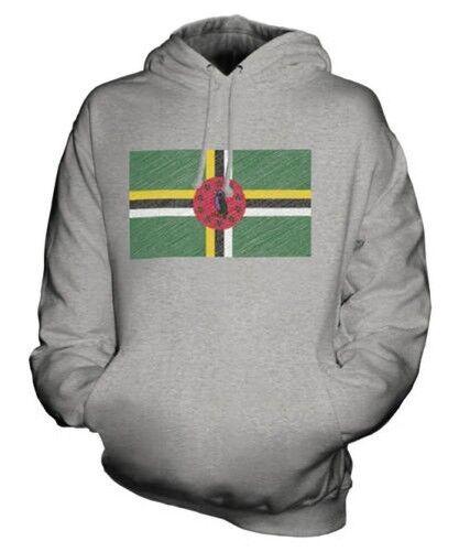 Dominica Scribble Flag Unisex Kapuzenpulli Top Geschenk Dominikanische Republik