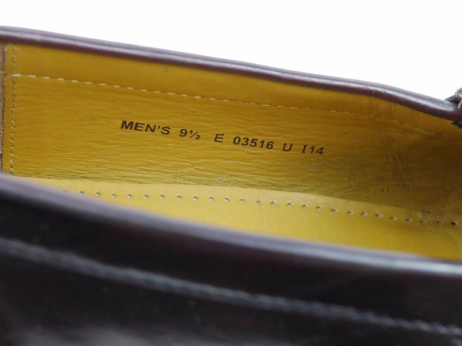 COLE HAAN Braun Leder Kiltie Tassel & - Buckle Loafers - & Slip On Schuhes Herren 9.5 15487e