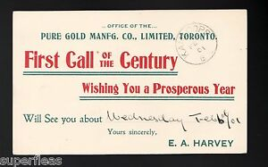 1901-Canada-Pure-Gold-Manfg-Co-salesman-039-s-calling-card-UL17b-Kamloops-cancel