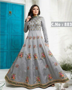 Inventif Kameez Salwar Suit Anarkali Indian Designer Pakistani Dress Party Shalwar S L Sc-afficher Le Titre D'origine