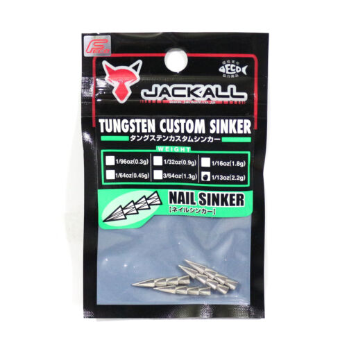 8773 4 Pcs Per Pack Jackall Tungsten Nail Sinker 2.2 Grams