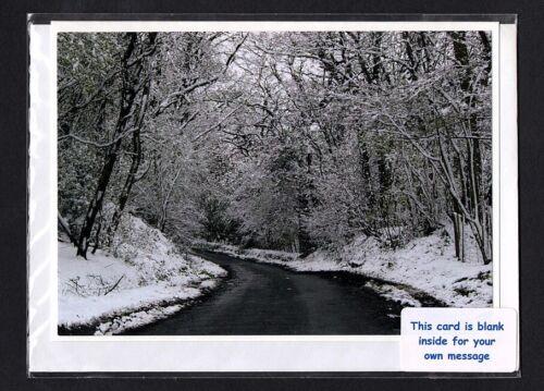 Keymer Sx Greeting Card // Notelet Snow Blank inside #310133 Lodge Hill Lane