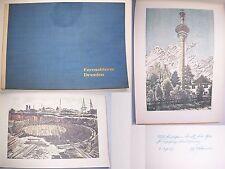 Fernsehturm Dresden 1969 Originaldrucke Albert Herold Widmung & Signatur !