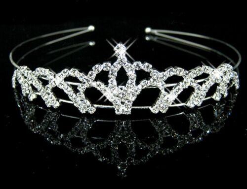 Bridal Tiara Hair Band Crystal Rhinestone Pearl Headband Wedding Birthday Girl