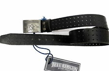 True Religion Brand Jeans Leather Perforated Buckle Belt - Y16PERFBLT Size 30
