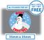 60 X Joyeux Noël Stickers Bonhomme de neige étiquettes Carte Décoration Présent Seals 35 mm