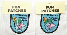 x2 Souvenir Patches, Everglades National Park Patch, Florida Flamingo
