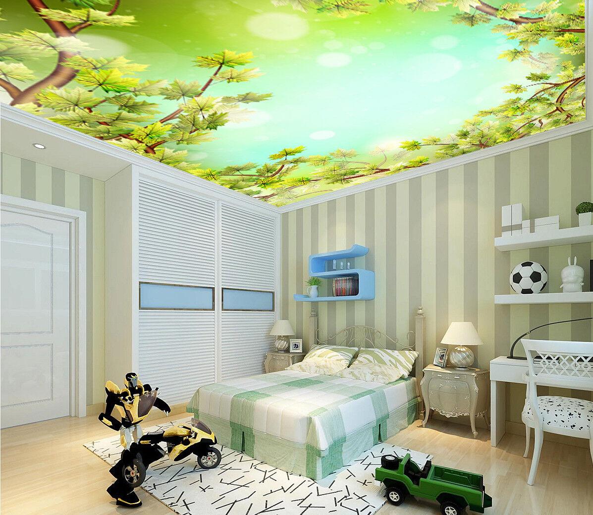 3D Sycamore Tree 833 Ceiling WallPaper Murals Wall Print Decal Deco AJ WALLPAPER