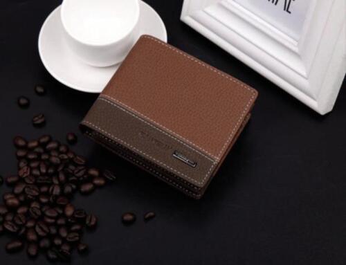 Men Leather Bifold ID credit Card holder Clutch Bifold Coin Purse Wallet Pockets