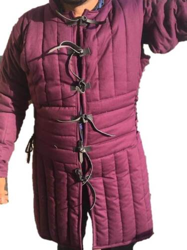 Details about  /HALLOWEEN Brown Medieval Gambeson Jacket Padded Armor SCA LARP WMA Multiple Size