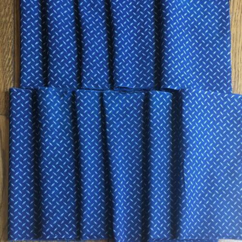 Antique Indigo Blue Print Calico Fabric Circa 1890 Repair Dolls Quilts EXCELLENT