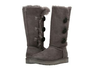 ef7fbf158a9 NEW WOMEN UGG 2019 BOOTS BAILEY BUTTON TRIPLET II TALL GREY ...