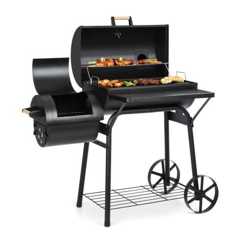 Barbecue Charbon de Bois Grillades Goût Fumée Grill Stable Couvercle Thermomètre