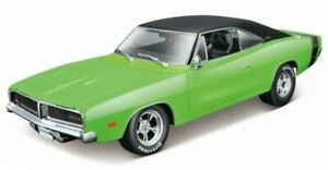 DODGE Charger R/T - 1969 - green / black - Maisto 1:18