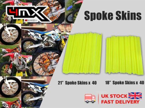 "80 Spokes Skin Covers 18/"" 21/"" Yellow fits Suzuki RM125 V,W,X 97-99"