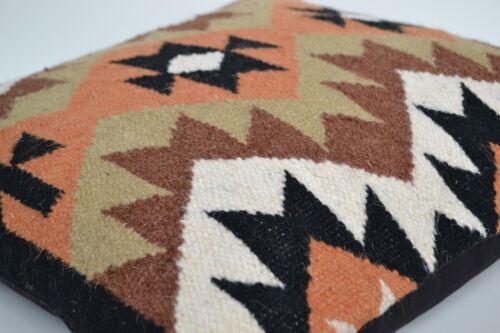 "Kilim Cushion Wool Cotton Jute Cover Handmade 20/"" 50cm Moroccan Indian Persian"