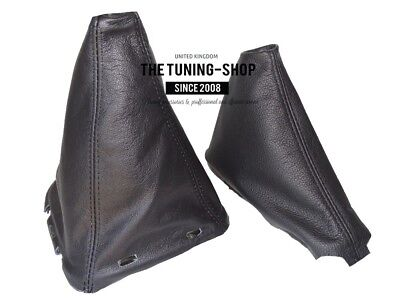 The Tuning-Shop Ltd for Nissan NAVARA D40 2006-2012 Shift /& E Brake Black Genuine Leather White Stitching
