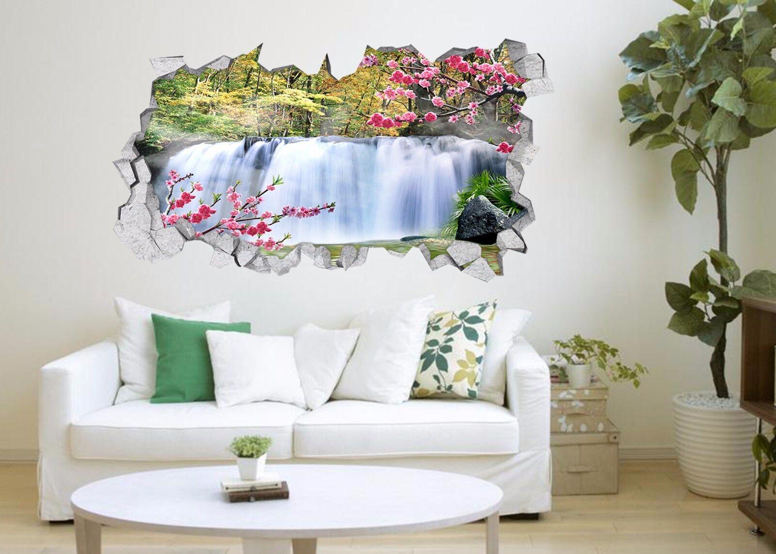 3D Wasserfall 733   Mauer Murals Mauer Aufklebe Decal Durchbruch AJ WALLPAPER DE