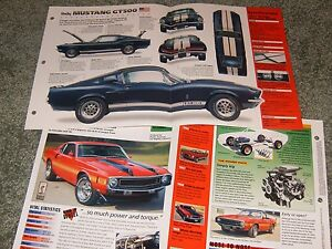 Image Is Loading 1967 MUSTANG SHELBY GT500 SPEC INFO POSTER BROCHURE