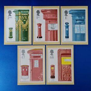 Set of 5 PHQ Stamp Postcards Set No.247 from Pillar to Post 2002 KE4