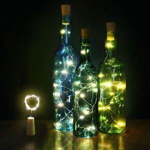 Natale-Bottiglia-di-vino-a-forma-di-sughero-15-20LED-Luce-Stringa-Lampada-Fata-Notte-Festa