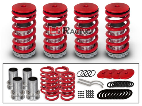 RED COILOVER LOWERING COIL SPRINGS KIT FOR 90-01 Acura Integra 4 Door//Coupe 1.8L