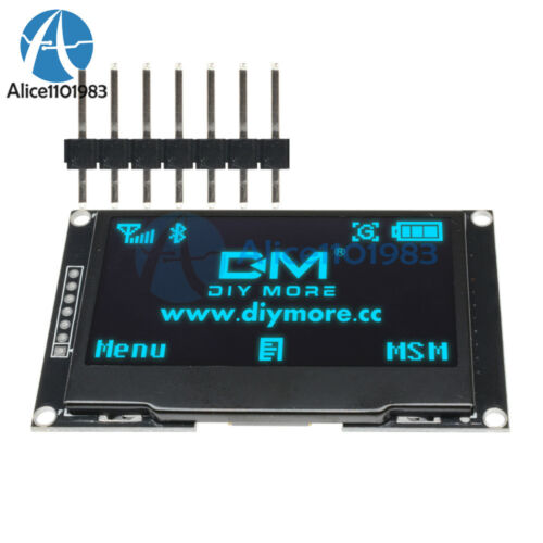 """2.42/"""" inch Blue OLED Display SSD1309 128x64 SPI//IIC Serial Port For Arduino C51"""