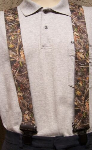 """Suspenders 2/""""x48/"""" FULLY Elastic Leaves and Twigs Camouflage NEW"""