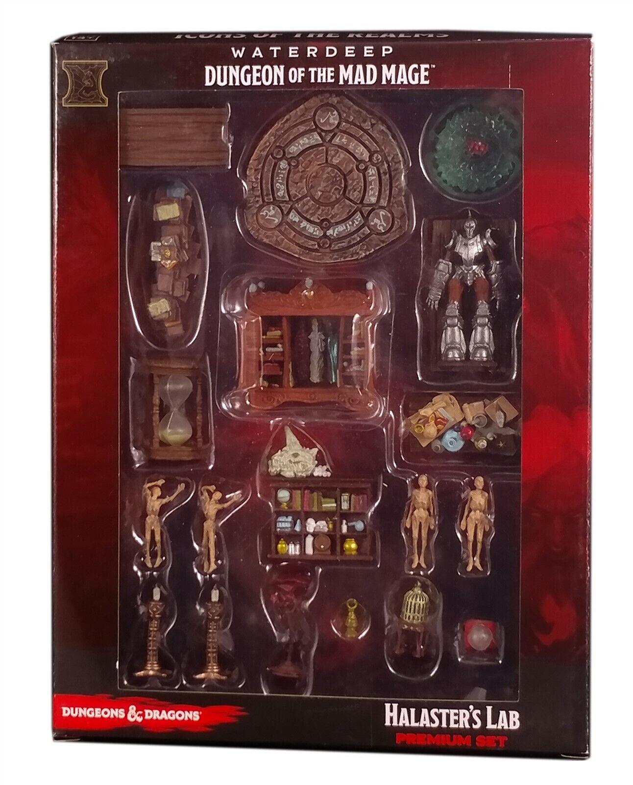 venta al por mayor barato Wizkids D&D Minis Minis Minis  Icons of the Realms Halaster's Lab Premium Set, New  nuevo sádico