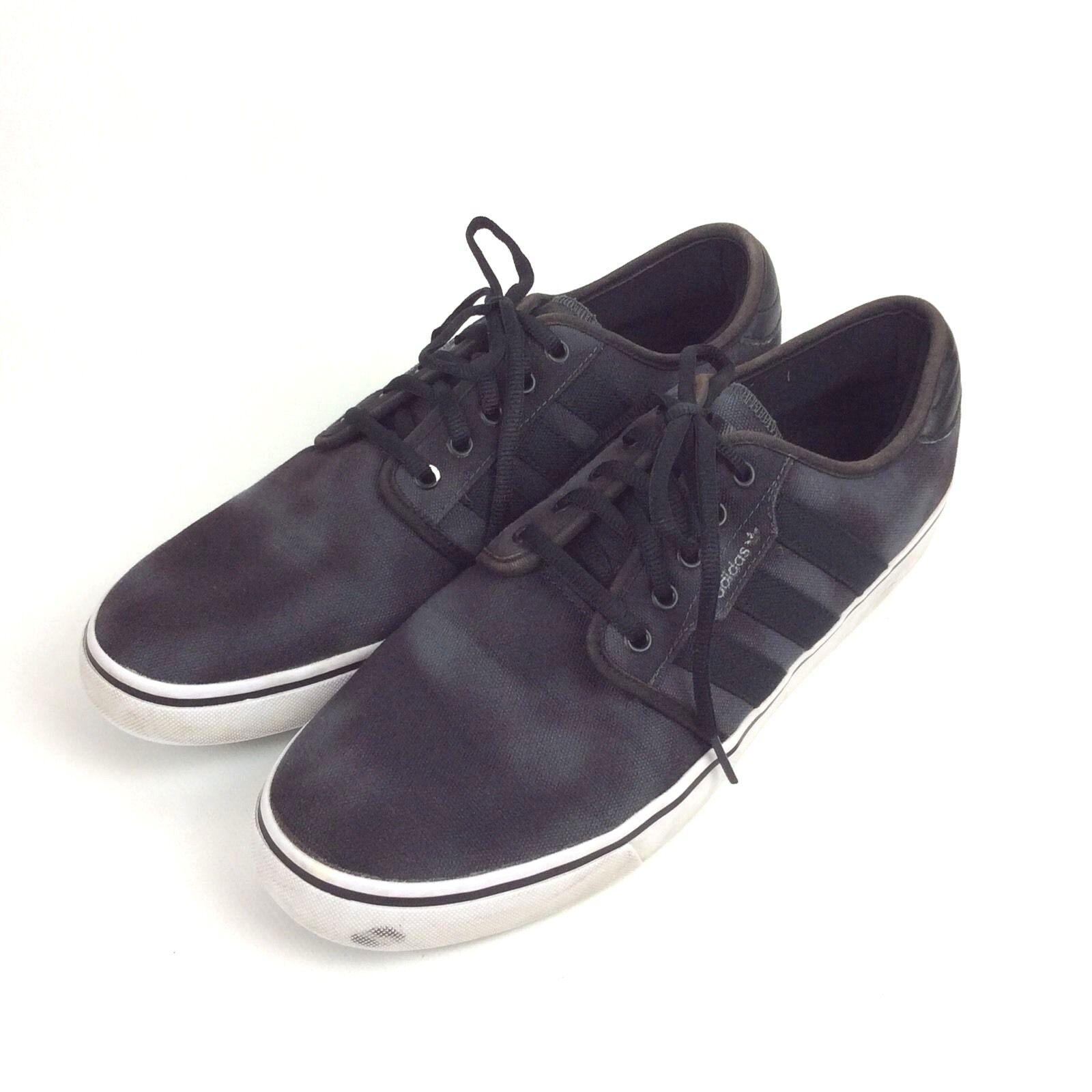 Adidas Eddie Van Halen Sneakers Sz 10.5 Black Gray Canvas EVH 791004 ART C76311 The most popular shoes for men and women