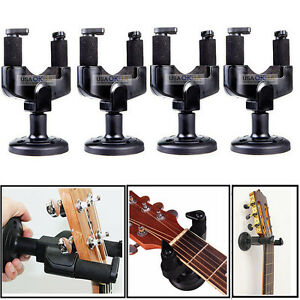4x guitar wall mount hanger stand holder hooks display acoustic electric bass 656112444791 ebay. Black Bedroom Furniture Sets. Home Design Ideas