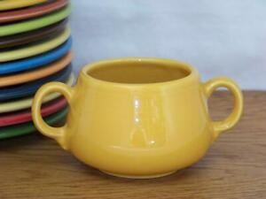 Fiesta-MARIGOLD-Small-Sugar-Bowl-Figure-8-Sugar-Body-Discontinued-Color