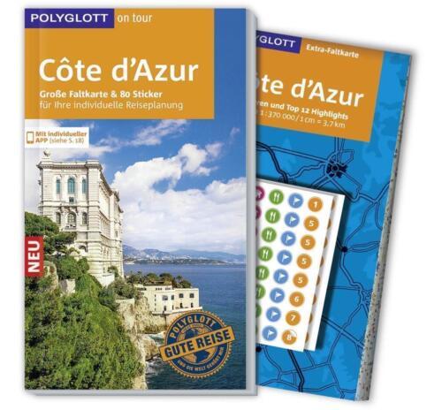 1 von 1 - REISEFÜHRER Côte d'Azur Polyglott 2015/16+Landkarte ausfaltbar UNGELESEN wie neu