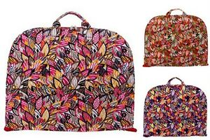 Floral Leaves Cotton Quilted Lightweight Garment Luggage Overnight Travel Bag by Belvah