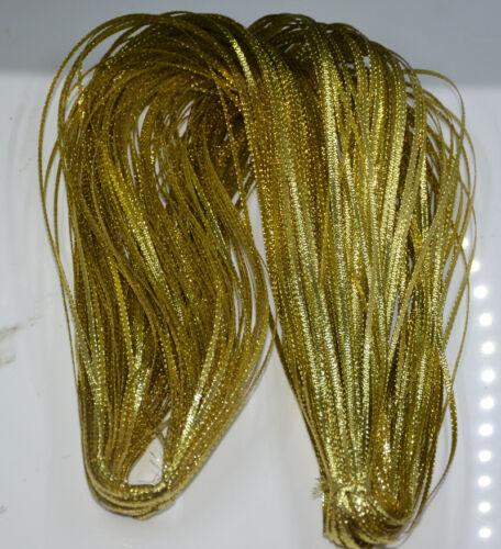 """Multifunctional Metallic Ribbon,Metallic Trim Ribbon Braid 1//8/""""*110Yds,12 Colors"""