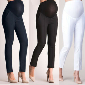 Women-Maternity-Pants-Trousers-Solid-Color-Pregnant-High-Waist-Elastic-Pants