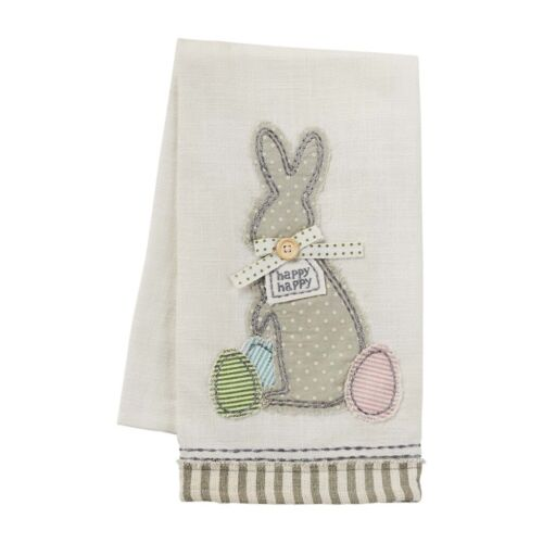 Mud Pie E1 Easter 28x21in  Easter Applique Bunny Towel 41500204 Choose Design