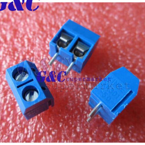 10//20//50//100KF301-2P 2 Pin Plug-in Screw Terminal Block Connector5.08mm Pitch J2