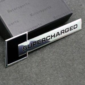 Black Turbo Charger SUPERCHARGED Engine Emblem Badge Sticker For Jaguar