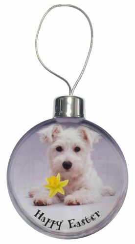 'Happy Easter' Westie Christmas Tree Bauble Decoration Gift, ADW7DA1CB