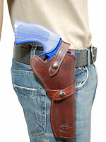 Barsony Burgundy Leather Western Style Gun Holster Smith&wesson 6 Revolvers