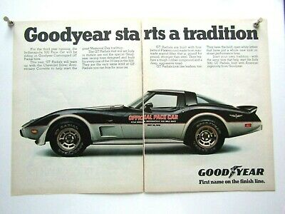 "1978 Chevrolet Corvette L 82 Pace Z 28 Center Fold Original Print Ad 8.5 x 11/"""
