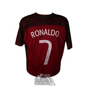 size 40 07335 1ea75 Details about Cristiano Ronaldo Autographed Nike Red Portugal Jersey -  PSA/DNA