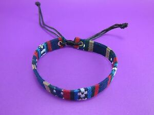 New-Thai-Hmong-Woven-fabric-Friendship-Bracelet-handicraft-hippie-hobo-1-pcs